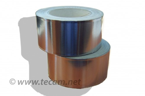 ALUMINIUM ADHESIVE TAPE - LABORATORY HEATING CABLES - Ecommerce Tecam, Heating solutions